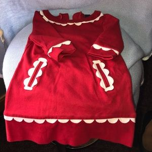 Beautiful red knit dress 18-24 month baby gap